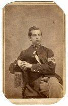Nice Cdv of a Young Federal Sergeant Major - Photographed in Little Rock, Arkansas