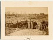 Nice Albumen of Confederate Fortifications at Manassas, Virginia.