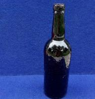 "Fine Civil War Period ""Black Glass"" Whiskey Bottle"