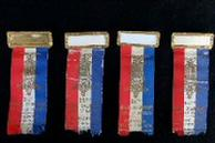 Nice Group of Four Consecutive Year Kansas G.A.R. Ribbons/Badges - 1932 - 1935
