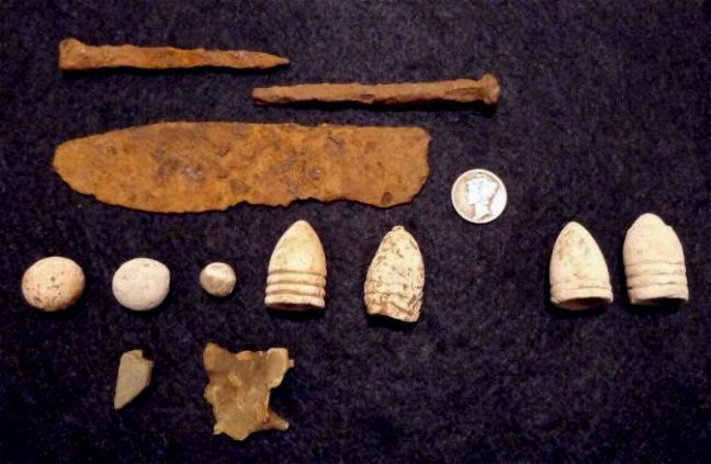 Minies & Relics Dug by Tom Bowen and Myself.