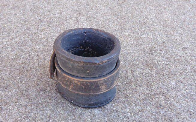 Nice Original Unmarked Early Civil War Leather Carbine Boot or Thimble