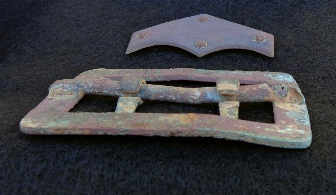 Fine Excavated U.S. Carbine Sling Buckle & Belt Tip