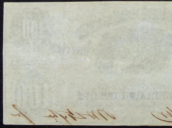 Exceptional VF/XF Rare Confederate T-7 July of 1861, One hundred dollar note