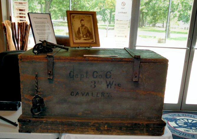 Original Camp Or Records Chest Belonging to the Captain of Co. G, 3rd Wisconsin Cavalry, US - In Superbly Preserved Condition