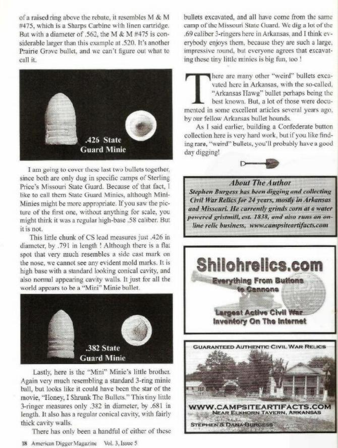 """Rounds of the Razorbacks"", Page 18, Volume 3 Issue 5, Sept./Oct. 2007 American Digger Magazine"